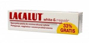 Lacalut Pasta do zębów White & Repair wybielająco naprawcza 75ml + 33%