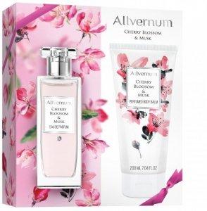 Allvernum Zestaw prezentowy Cherry Bloosom & Musk (woda perf.50ml+balsam d/ciała 200ml)