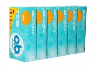 O.B.Original Normal tampony  6 x 16szt (5+1 gratis)