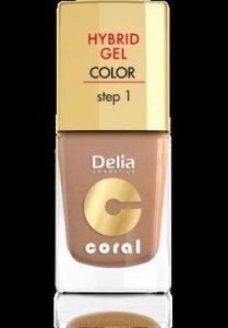 Delia Cosmetics Coral Hybrid Gel Emalia do paznokci nr 19 ciepły beż 11ml