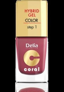 Delia Cosmetics Coral Hybrid Gel Emalia do paznokci nr 18 marsala 11ml
