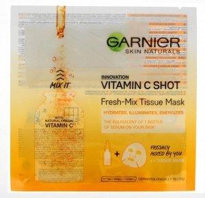 Garnier Skin Naturals Tissue Mask Maska na tkaninie Vitamin C Shot  33g