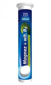 Zdrovit Magnez + Witamina B6, tabletki musujące 24 szt - cytrynowy