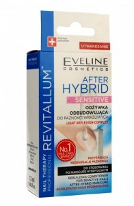 Eveline Nail Therapy Revitallum Odżywka do paznokci odbudowująca After Hybrid Sensitive  12ml