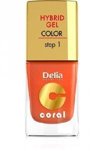 Delia Cosmetics Coral Hybrid Gel Emalia do paznokci nr 02 pomarańczowy 11ml