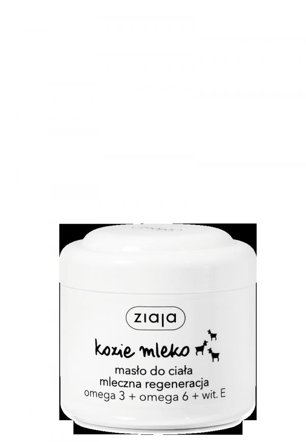 Ziaja KOZIE MLEKO masło do ciała mleczna regeneracja omega 3 + omega 6 + wit. E 200ml