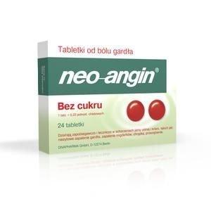 NEO-ANGIN x 24 tabl. do ssania bez cukru