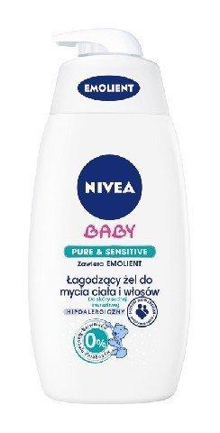 Nivea Baby Łagodzący żel do mycia ciała i włosów Pure&Sensitive  Emolient  500ml
