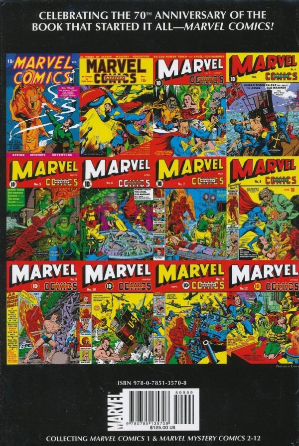 GOLDEN AGE MARVEL COMICS OMNIBUS VOL 01 HC (OLD EDITION) (STANDARD COVER)