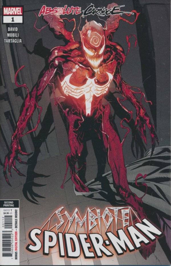 ABSOLUTE CARNAGE SYMBIOTE SPIDER-MAN #1 2ND PTG