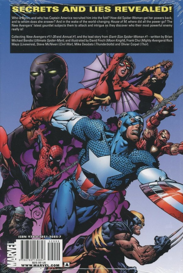 NEW AVENGERS VOL 02 HC (BRIAN MICHAEL BENDIS) (OVERSIZED) (STANDARD COVER)