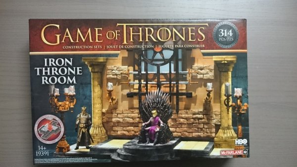 GAME OF THRONES CONST SET IRON THRONE BS