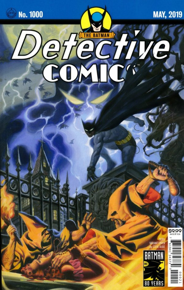 DETECTIVE COMICS #1000 1930S STEVE RUDE VARIANT COVER