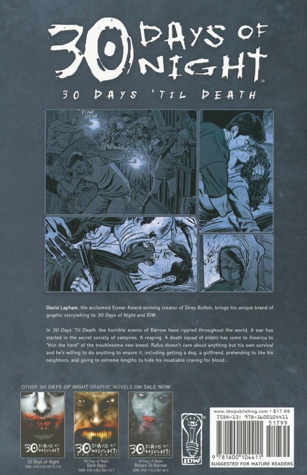 30 DAYS OF NIGHT 30 DAYS TIL DEATH SC