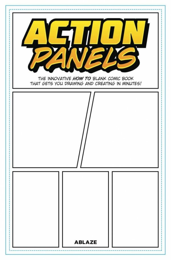 ACTION PANELS INNOVATIVE HOW TO BLANK COMIC BOOK JOURNAL