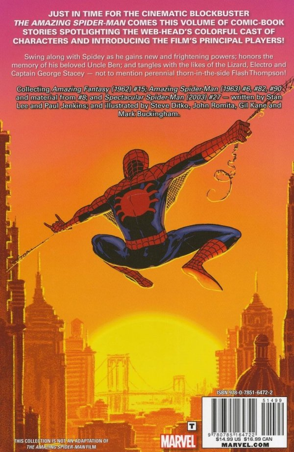 AMAZING SPIDER-MAN SECRET ORIGINS SC
