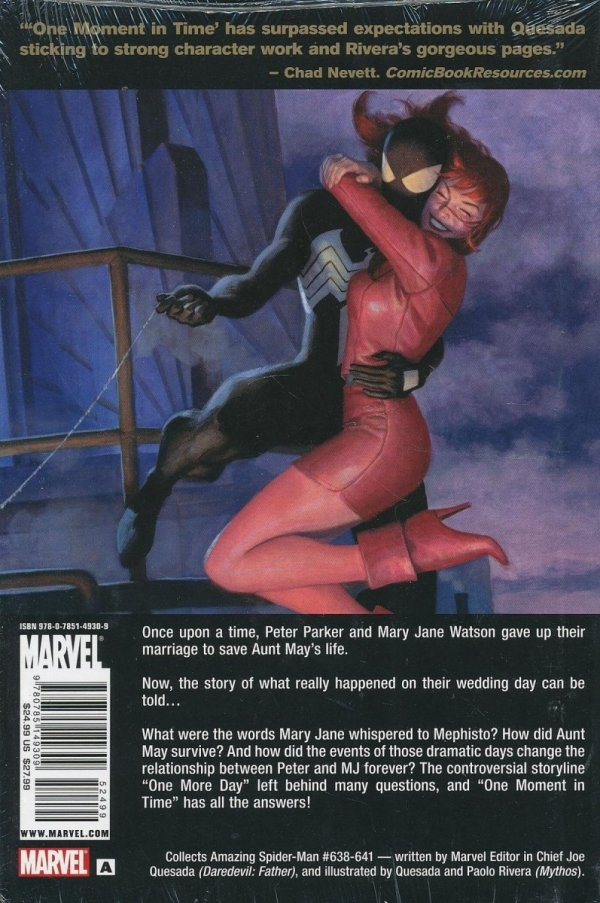 SPIDER-MAN ONE MOMENT IN TIME HC (STANDARD COVER)