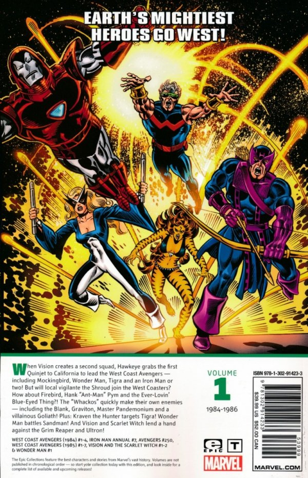 AVENGERS WEST COAST EPIC COLLECTION HOW THE WEST WAS WON SC