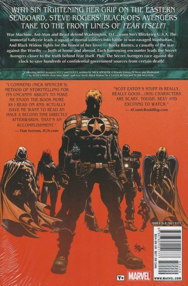 FEAR ITSELF SECRET AVENGERS HC