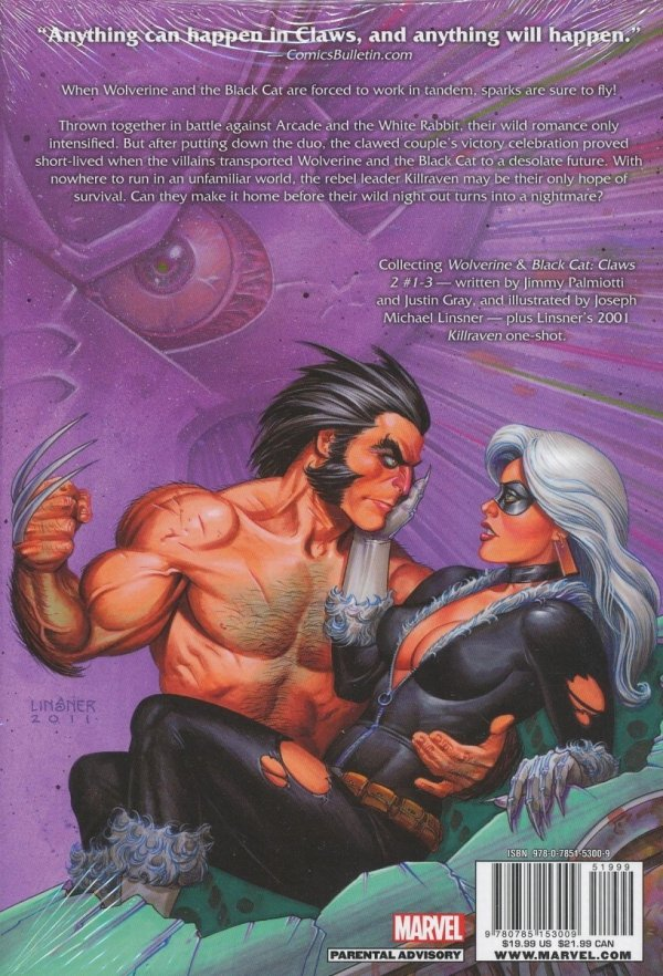 WOLVERINE AND BLACK CAT CLAWS 2 HC