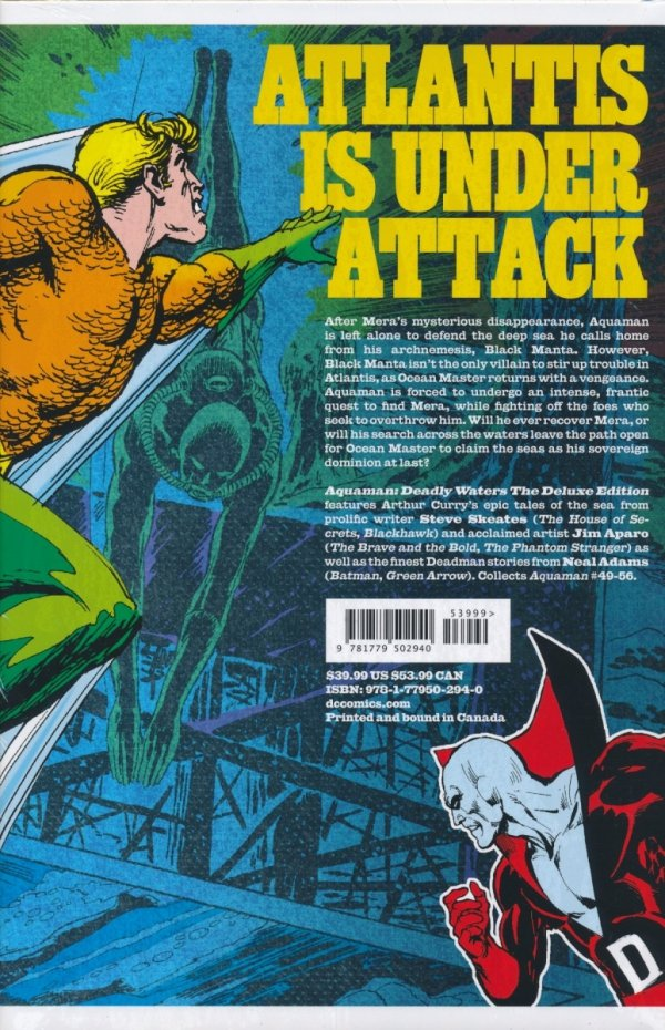 AQUAMAN DEADLY WATERS THE DELUXE EDITION HC