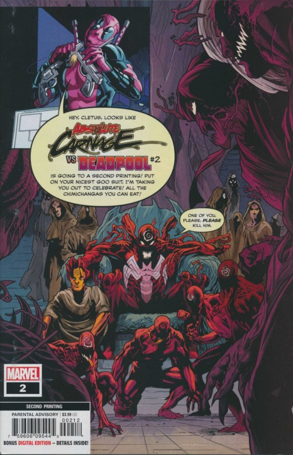 ABSOLUTE CARNAGE VS DEADPOOL #2 2ND PTG