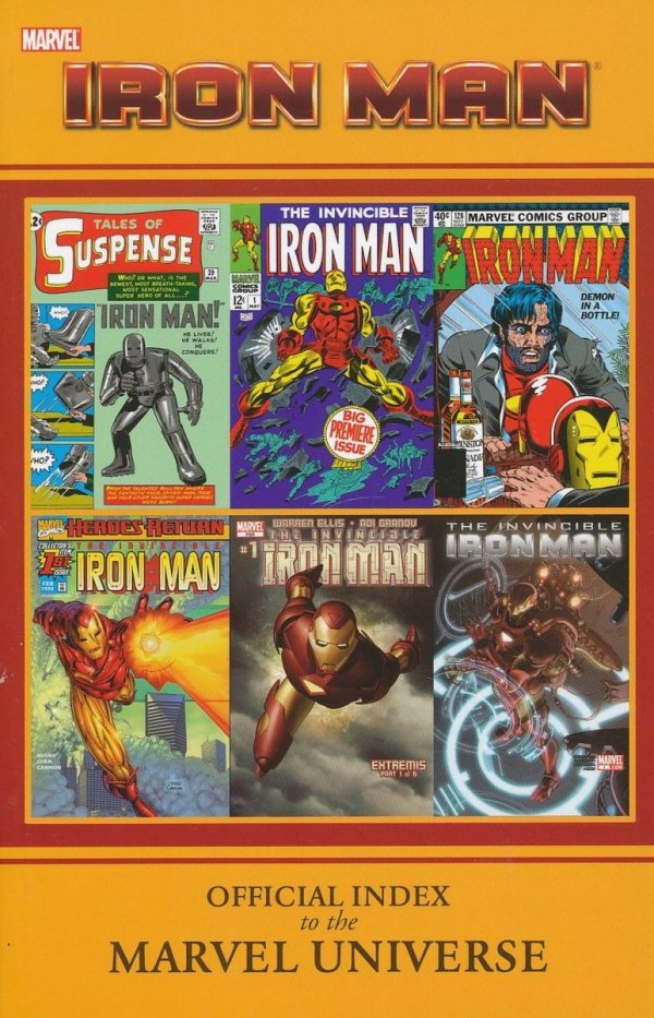 IRON MAN OFFICIAL INDEX TO THE MARVEL UNIVERSE SC
