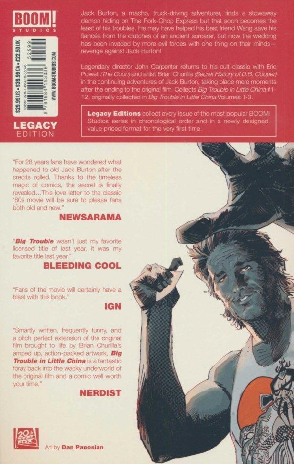 BIG TROUBLE IN LITTLE CHINA LEGACY EDITION VOL 01 SC