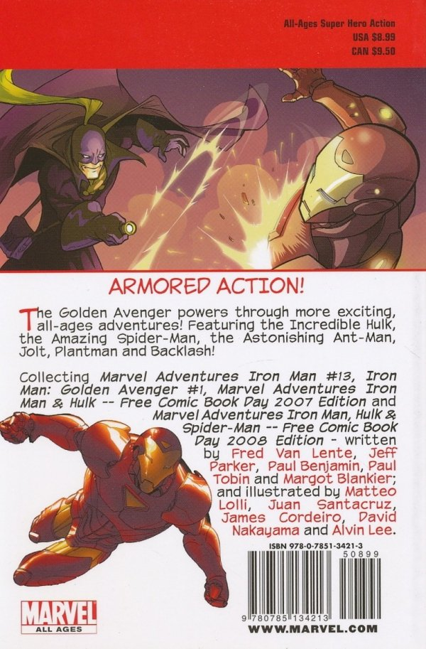 MARVEL ADVENTURES IRON MAN TP ARMORED AVENGER DIGEST