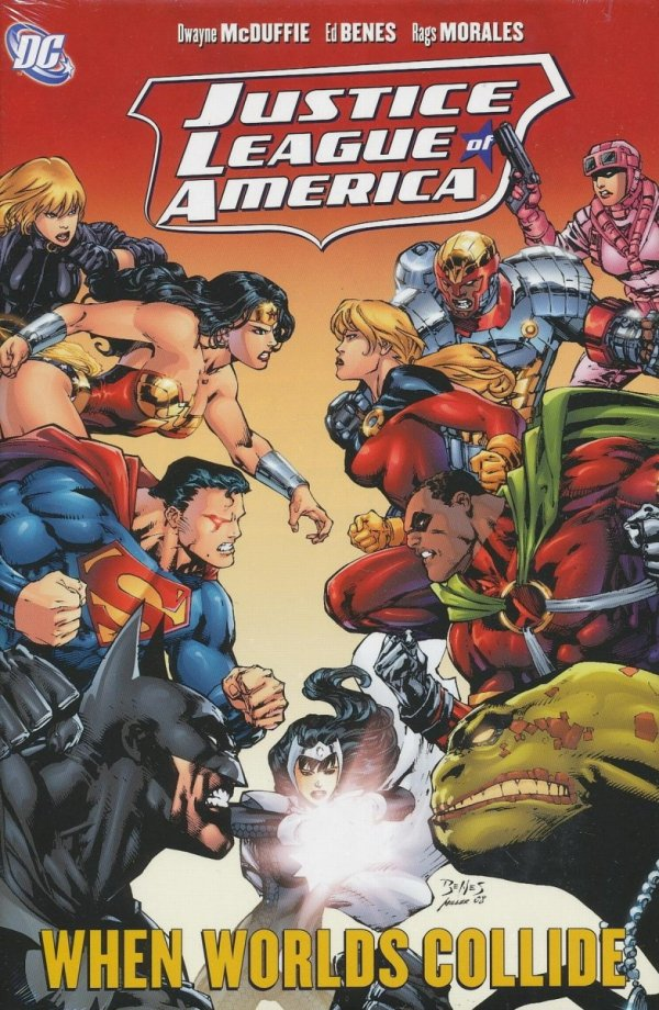 JUSTICE LEAGUE OF AMERICA WHEN WORLDS COLLIDE HC