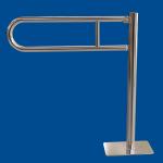 Uchwyt Uchylny WC Wolnostojący dla Niepełnosprawnych 80cm stal nier fi25