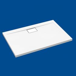 Brodzik posadzkowy najazdowy dla osób starszych i niepełnosprawnych biały akrylowy 120x80