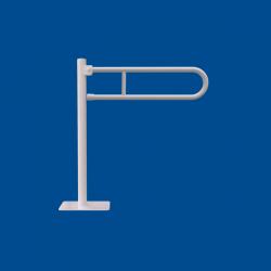 Uchwyt Uchylny Wc Wolnostojący dla Niepełnosprawnych 60 cm biały fi25