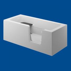 Obudowa wanny panel boczny biały uniwersalny VOVO / AVO 160cm