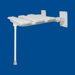 Krzesełko Prysznicowe dla Niepełnosprawnych Uchylne 2 z nogą białe fi25