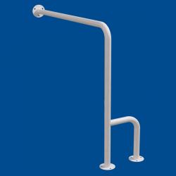 Uchwyt WC dla Niepełnosprawnych mocowany do podłoga - ścianay lewy 70cm biały fi32