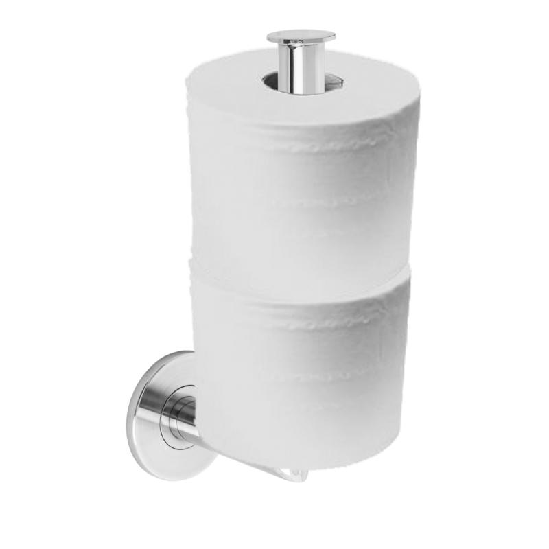 Uchwyt na papier toaletowy półokrągły ścienny stal nierdzewna fi20 + MASKOWNICA