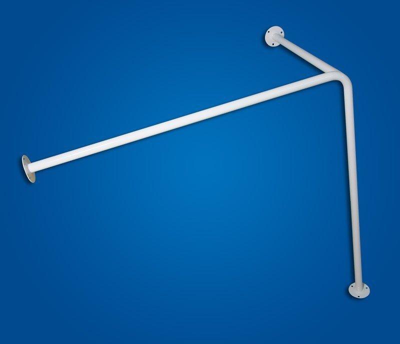 Drążek zasłony Prysznicowej z podwieszeniem sufitowym 90/90/50cm biały fi25