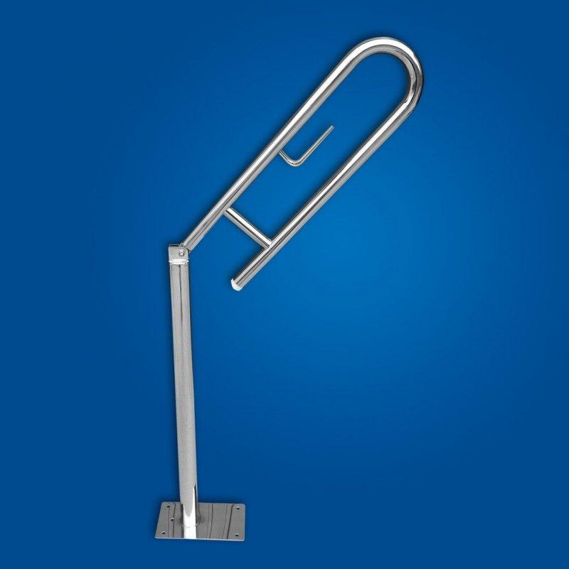 Uchwyt Uchylny WC wolnostojący 60cm PAPier stal nierdzewna fi32 dla niepełnosprawnych