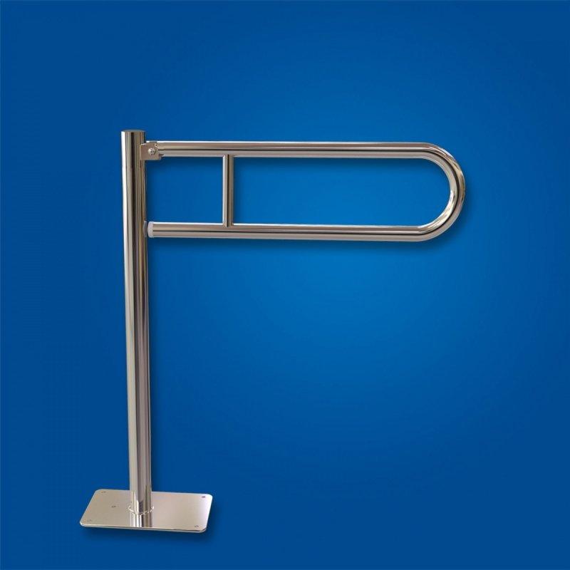 Uchwyt Uchylny WC wolnostojący 50cm stal nierdzewna fi25 dla niepełnosprawnych