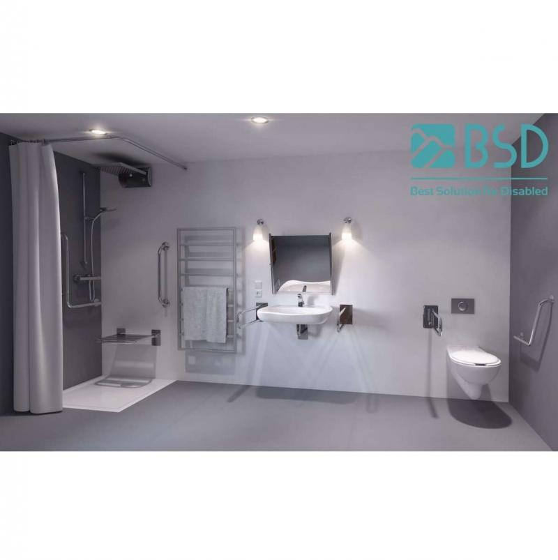 Uchwyt WC / Umywalka dla Niepełnosprawnych stały 60cm stal nierdz. fi25