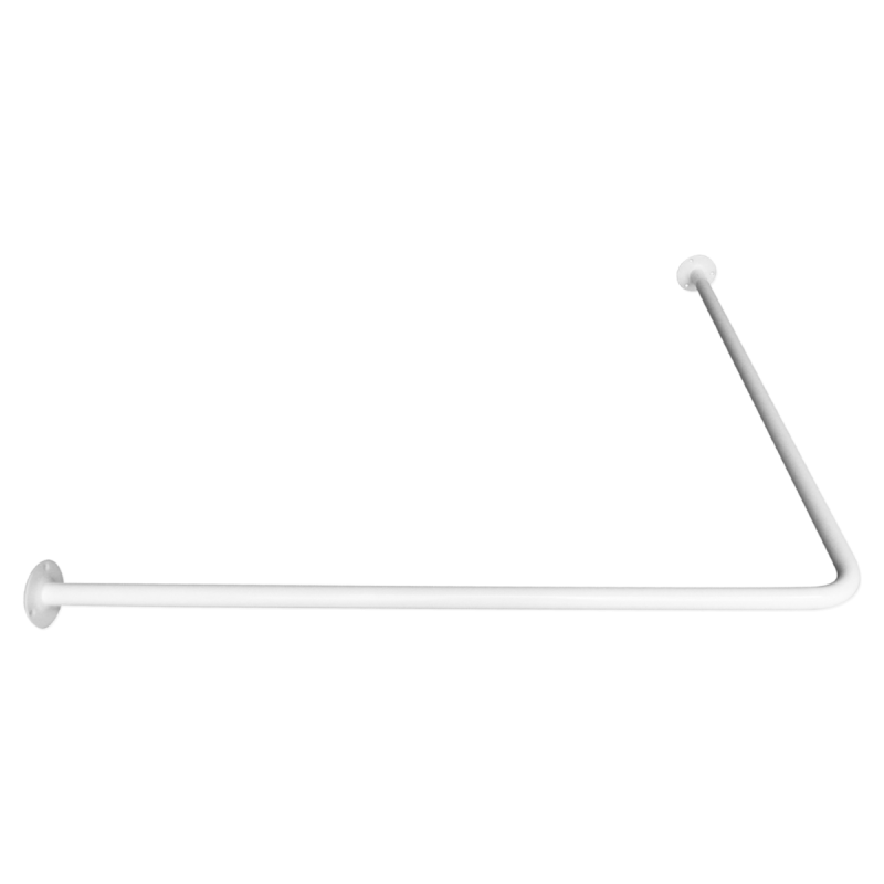 Drążek kątowy zasłony prysznicowej 90/90cm biały fi25