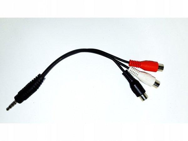 Kabel Przejściówka z jack 3,5mm / 3 RCA CHINCH AV
