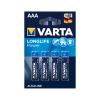 Bateria alkaliczna VARTA LR03 LONGLIFE 4szt./bl.