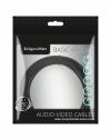 Kabel jack 3.5 wtyk stereo - 3.5 gniazdo stereo 1m  Kruger&Matz Basic