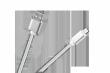 Kabel USB - micro USB M-Life nylon srebrny