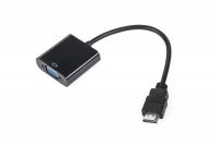 Złącze adapter wtyk HDMI - gniazdo VGA + AUDIO