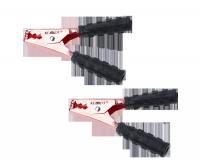 Złącze krokodyl 200A czarne