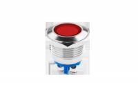 Kontrolka LED 18 mm 230V metal czerwona EK5678