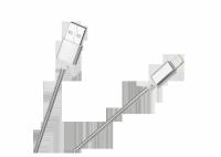 Kabel USB - Lightning M-Life do Apple iPhone nylon biały 1m